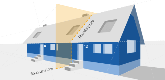 Party wall Diagram Bideford